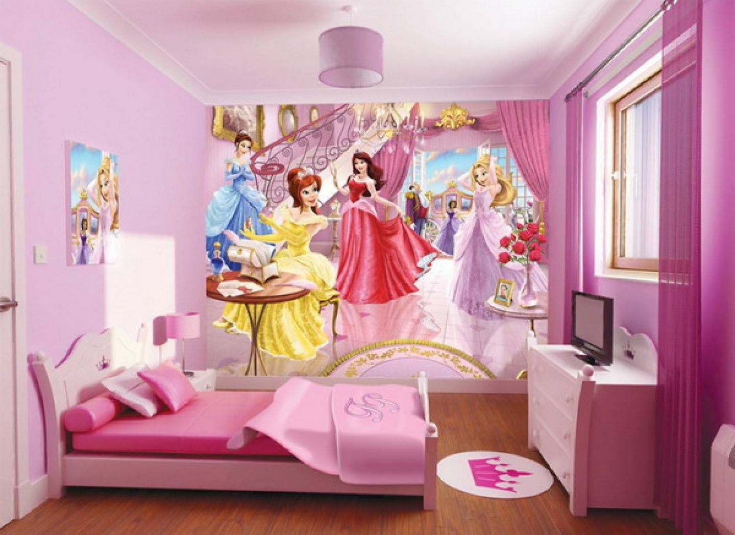 Princess Bedroom Ideas With Colorful Pink Furniture | Girl ...