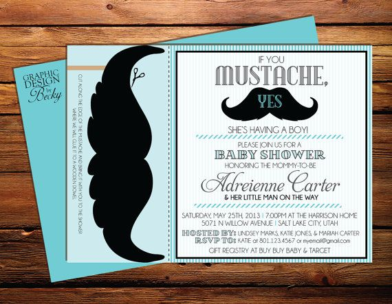 Baby Shower For Boy Invitation Wording ~ If you mustache baby boy shower invitations printable baby