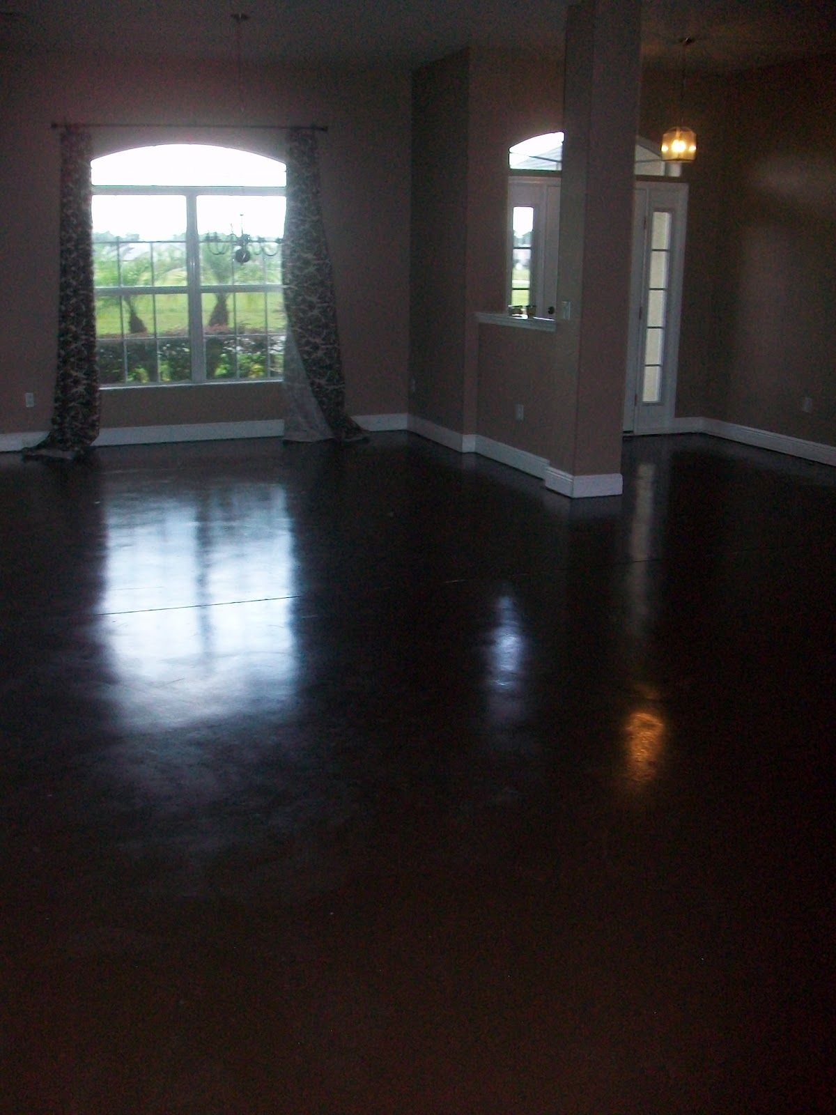 Beautiful Dark Stained Concrete Floors