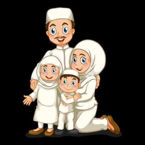 Download Muslim Family Png Images Background Png Free Png Images Kartun Wallpaper Kartun Lucu Lukisan Keluarga