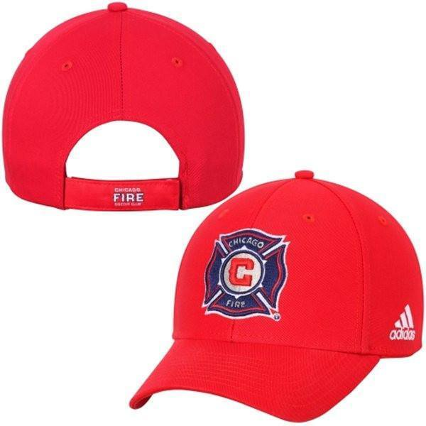 0424bf49 Men's Chicago Fire SC adidas Red Basic Structured Adjustable Hat ...