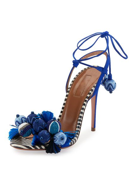 Aquazzura Tropicana Tassel 105mm Sandal