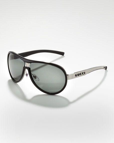 1daa46bd3cc Gucci - Enamel-Covered Aviator Sunglasses
