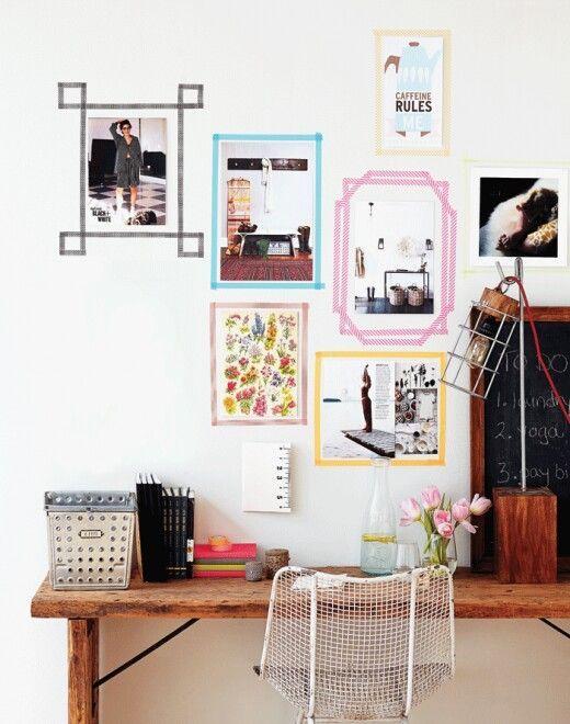 Decoración de paredes a la nueva usanza: a tope con el washi tape ...