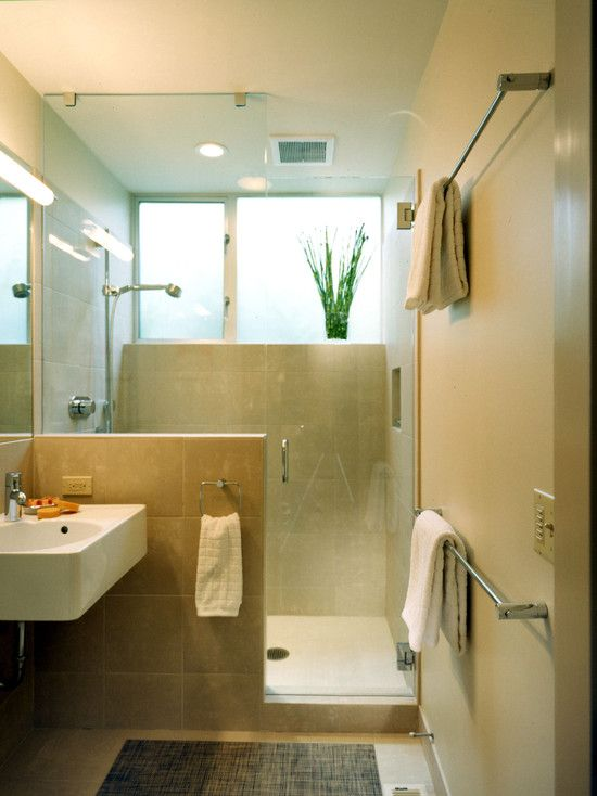 Seattle Bathroom Half Wall Design, Pictures, Remodel, Decor and - Bathroom Glass