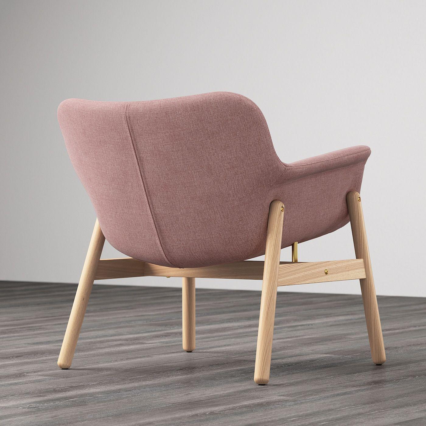 VEDBO Fauteuil, Gunnared oudroze IKEA
