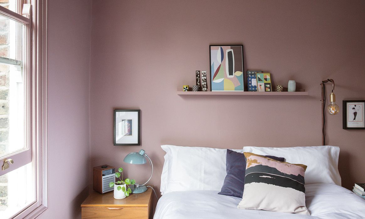 Sulking Room Pink By Farrow And Ball A A Bedroom In