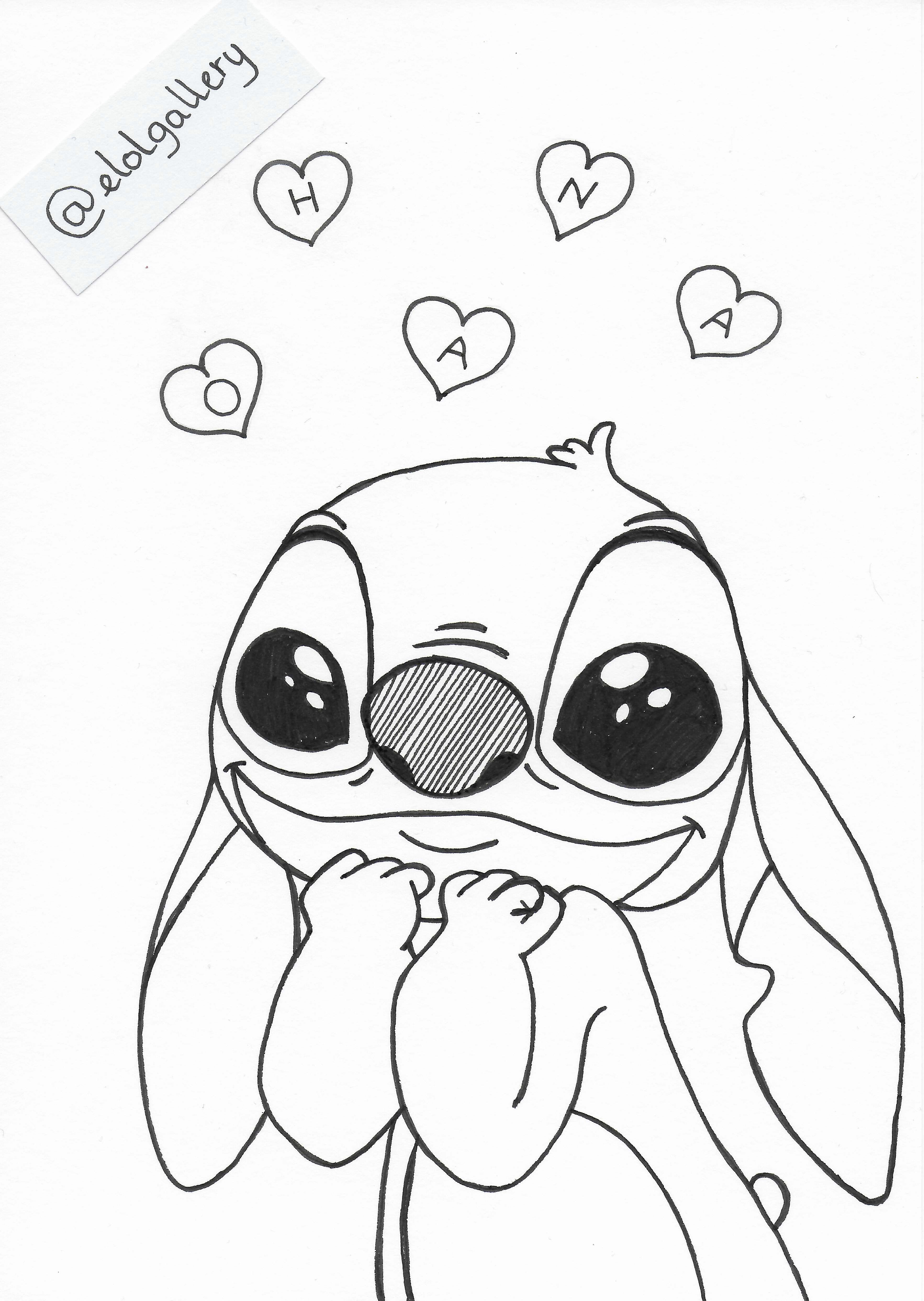 Stitch Stitch Coloring Pages Stitch Drawing Stitch Disney