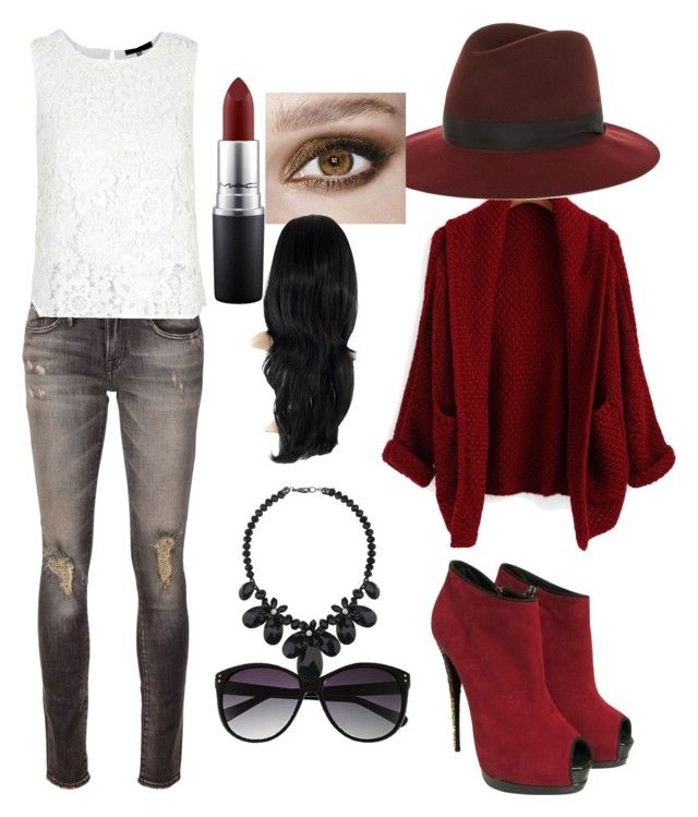 """Untitled #6"" by gypsyygoon on Polyvore featuring Giuseppe Zanotti, R13, rag & bone, Vince Camuto, Wallis and MAC Cosmetics"