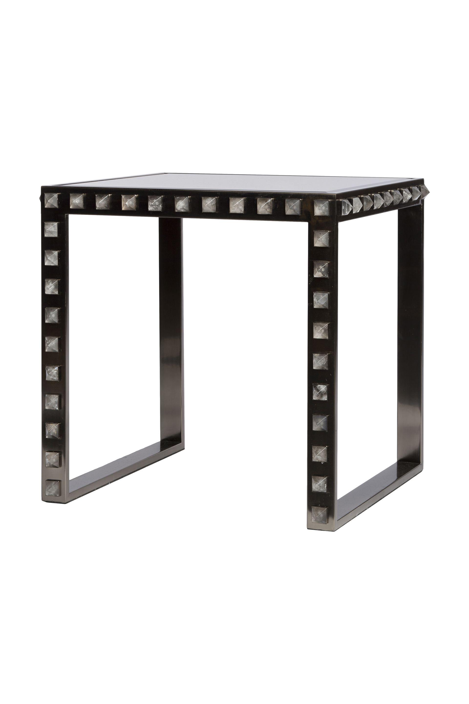 Family Room Sofa Table Quartz Stud End Black Nickel Dimensions 22 H
