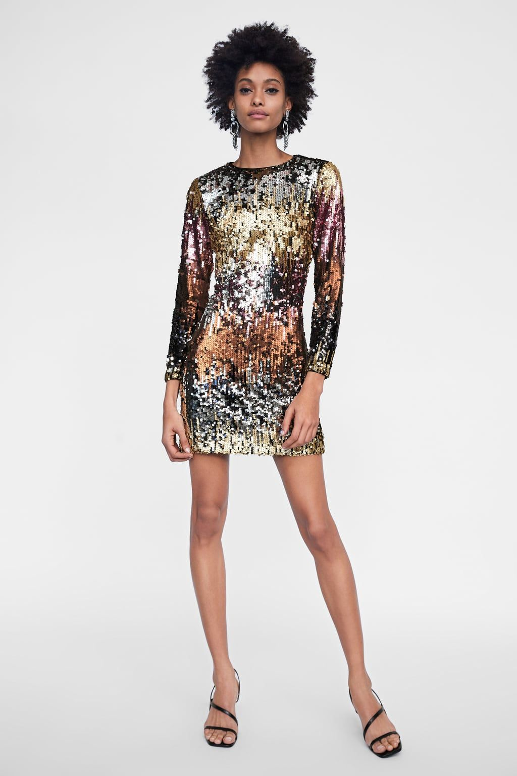 502f06acbfd Image 1 of SEQUIN DRESS from Zara