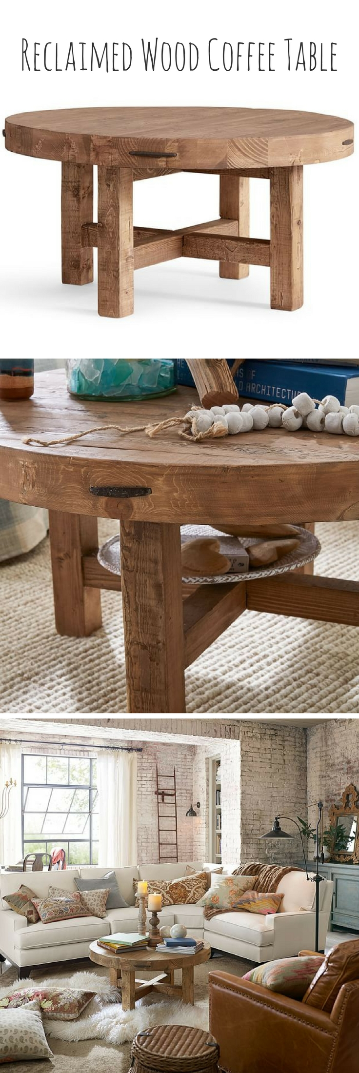 Reclaimed Barn Wood Coffee Table 36 Round 48 Round Coffee Table Wood Round Wood Coffee Table Reclaimed Coffee Table [ 1200 x 1798 Pixel ]