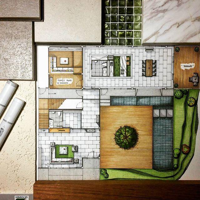 Interior Design Floor Plan Sketches ready for sunday #floorplan #sketch #handdrawing #interiordesign
