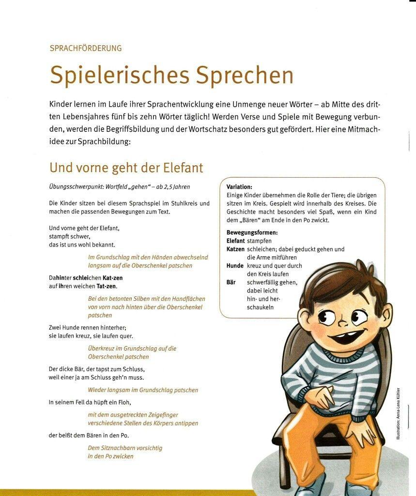 Sprachförderung/rhythmisches Sprechen | kindergarten | Pinterest ...