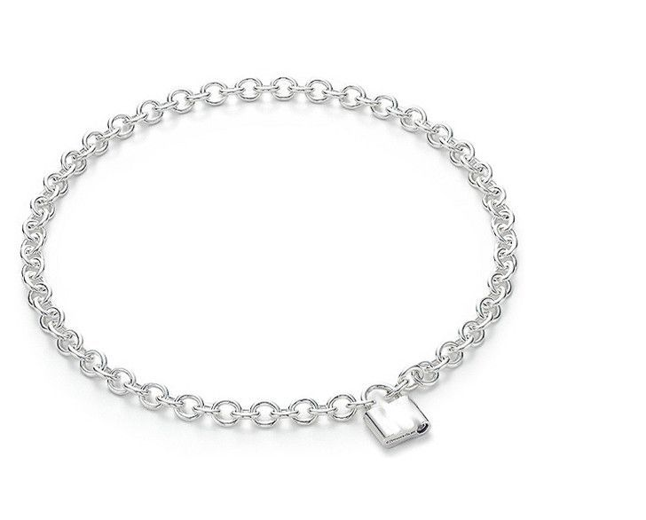 Sterling Silver 1837 Lock Necklace