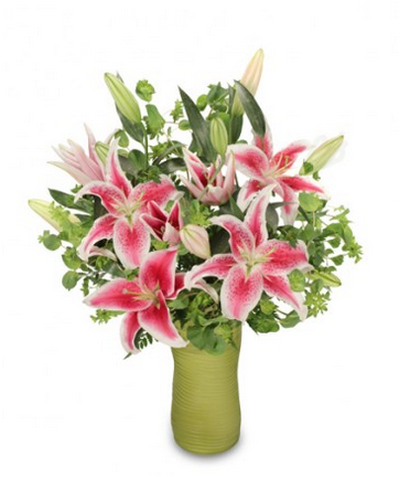 When you want to wow, send these dazzling pink Stargazer