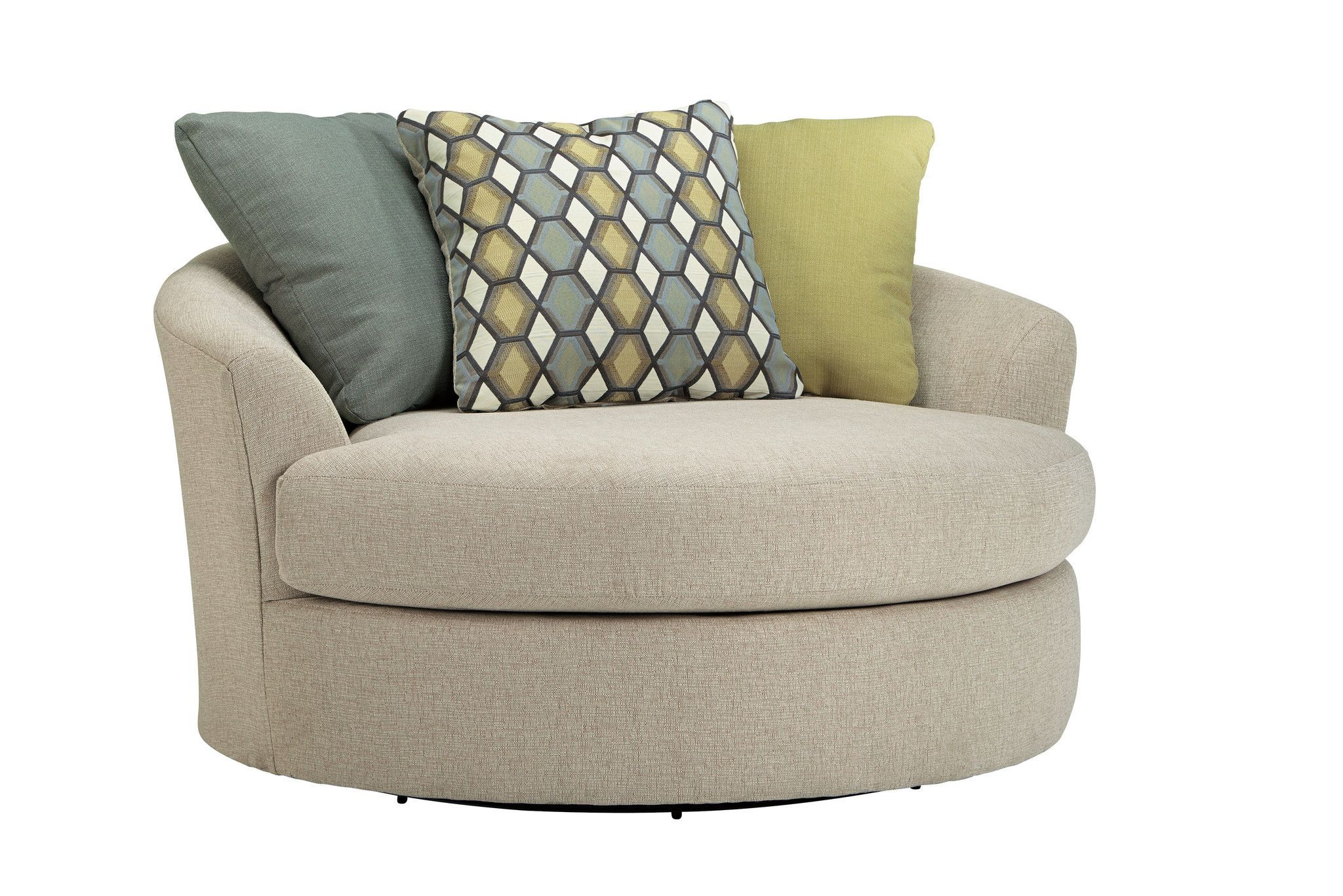 Casheral Oversized Swivel Chair  Swivel barrel chair, Accent