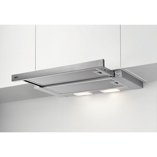 Aeg 60cm Pull Out Hood Dpb3631s In 2020 Kitchen Extractor Kitchen Extractor Fan Cooker Hoods