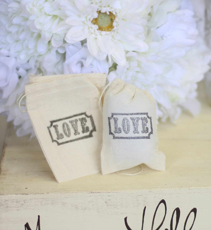 Rustic Wedding Favor Bags LOVE Candy Bags Dessert Bar SET