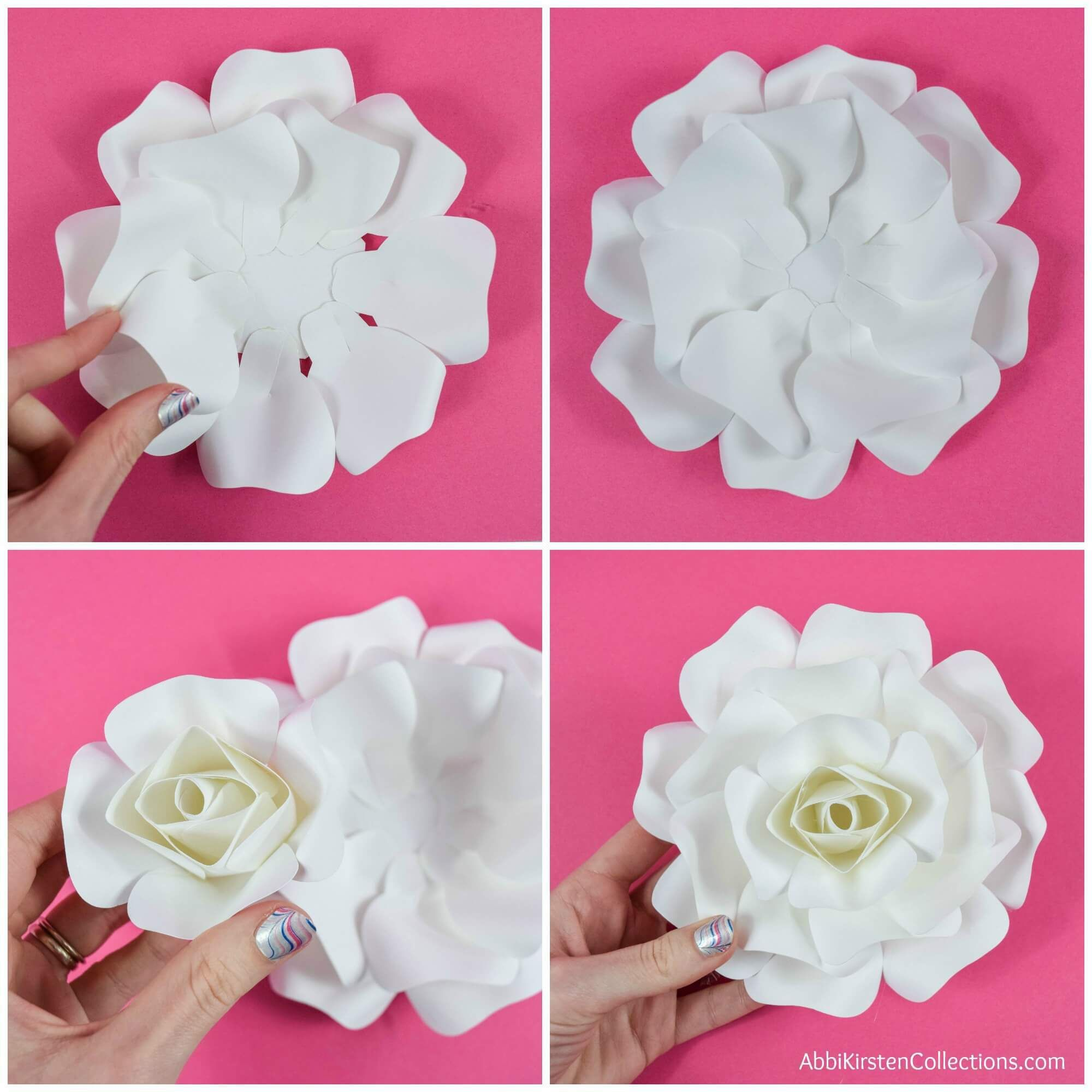 Diy Paper Rose Tutorial How To Make Small Paper Roses Paper