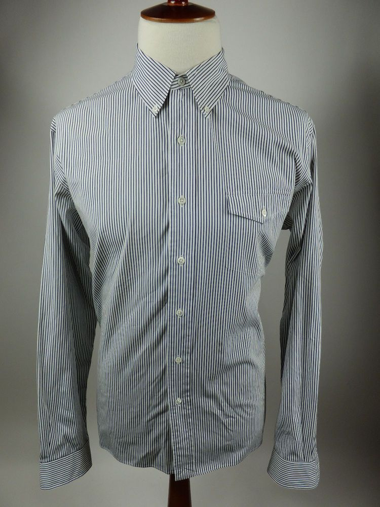 Ralph Lauren Bleeker Black White Long Sleeve Button Front Shirt Men XL #RalphLauren #ButtonFront