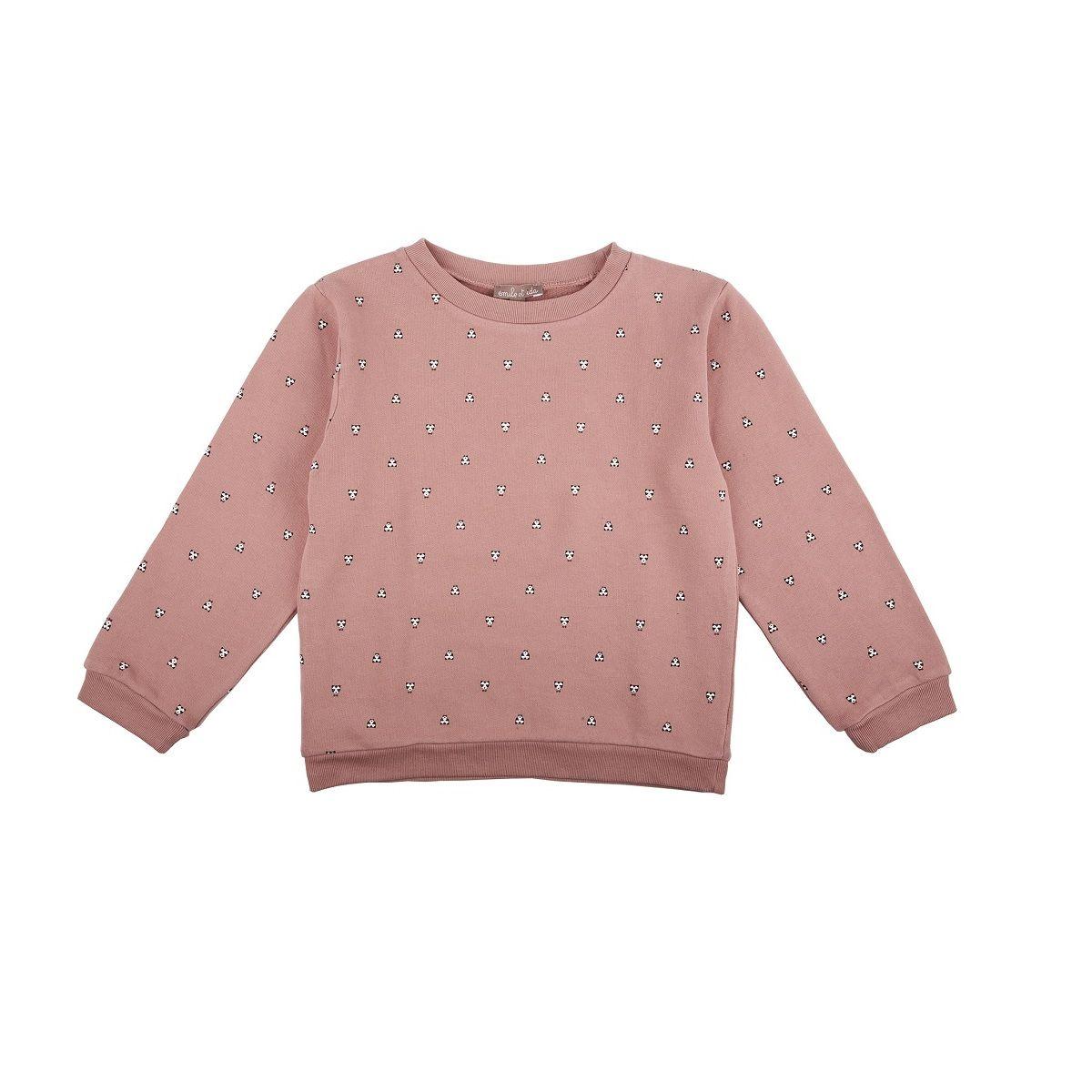 Emile et Ida Blush All Over Ours Sweatshirt | www.littlesahou.com