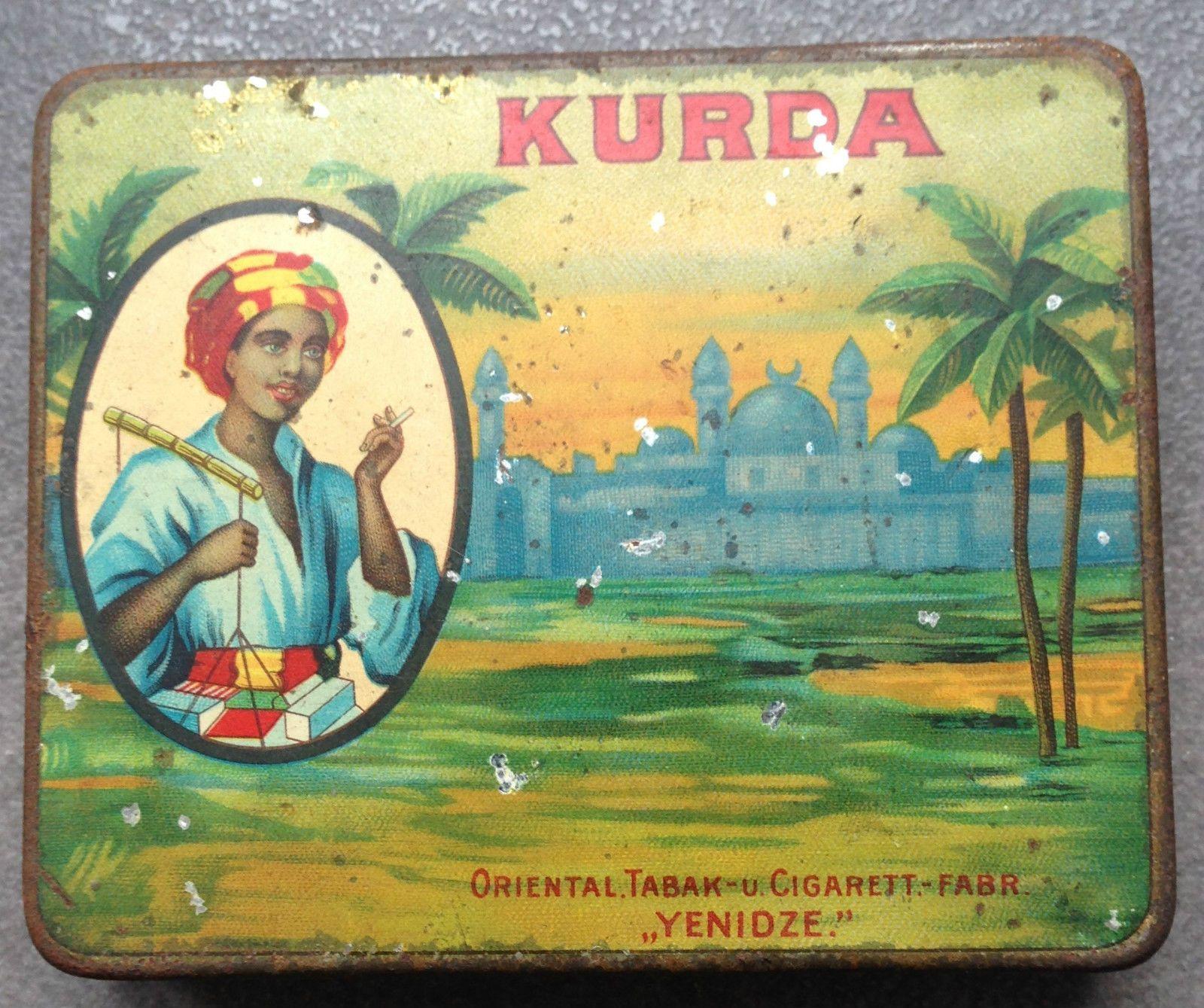 Sehr seltene Zigarettendose aus Blech mit Orient-Motiv um 1900. Originalzustand dem Alter entsprechend. | eBay!