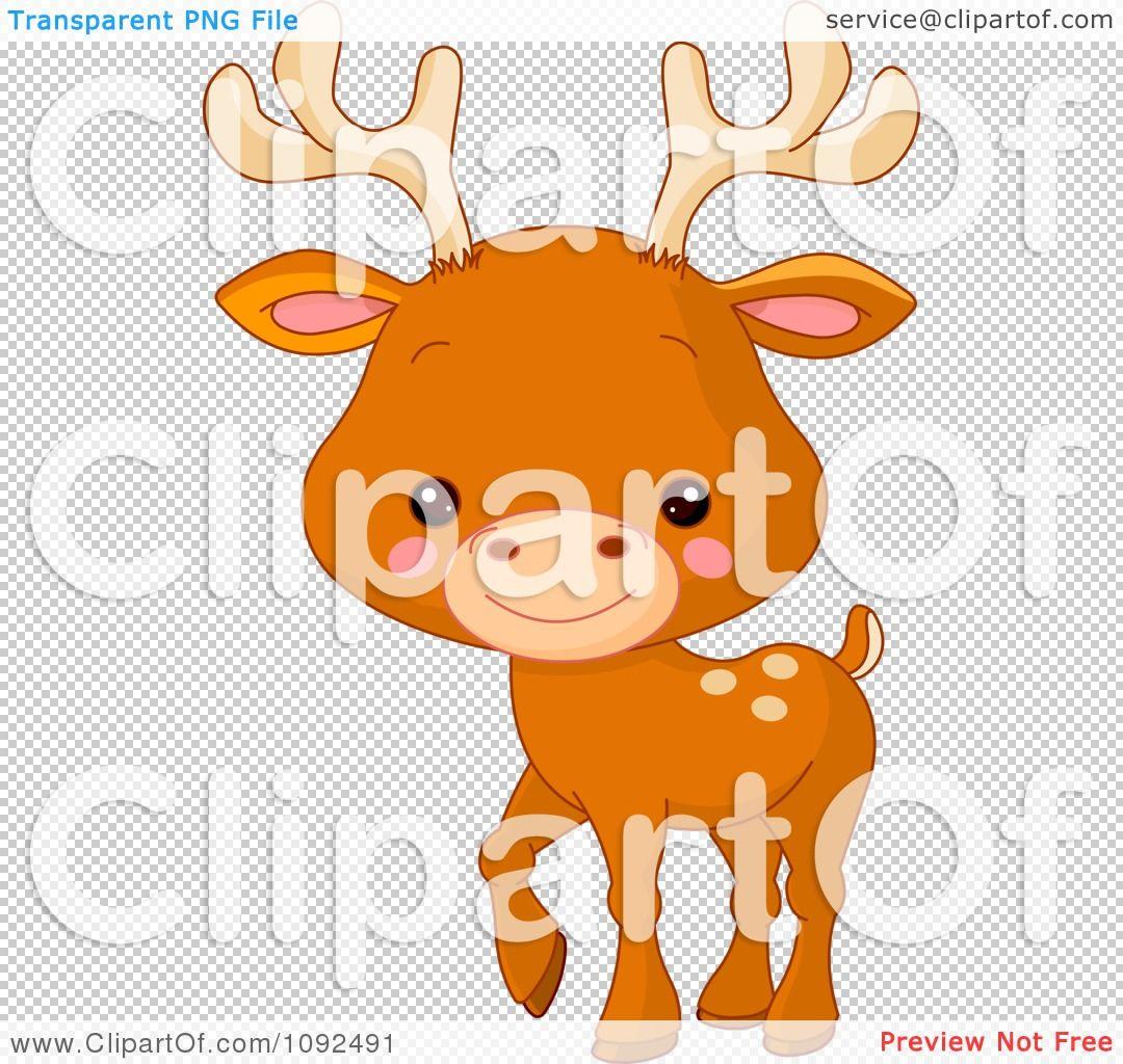 Clipart Cute Baby Zoo Deer Royalty Free Vector Illustration By Pushkin Free Vector Illustration Clipart Cute Zoo Babies