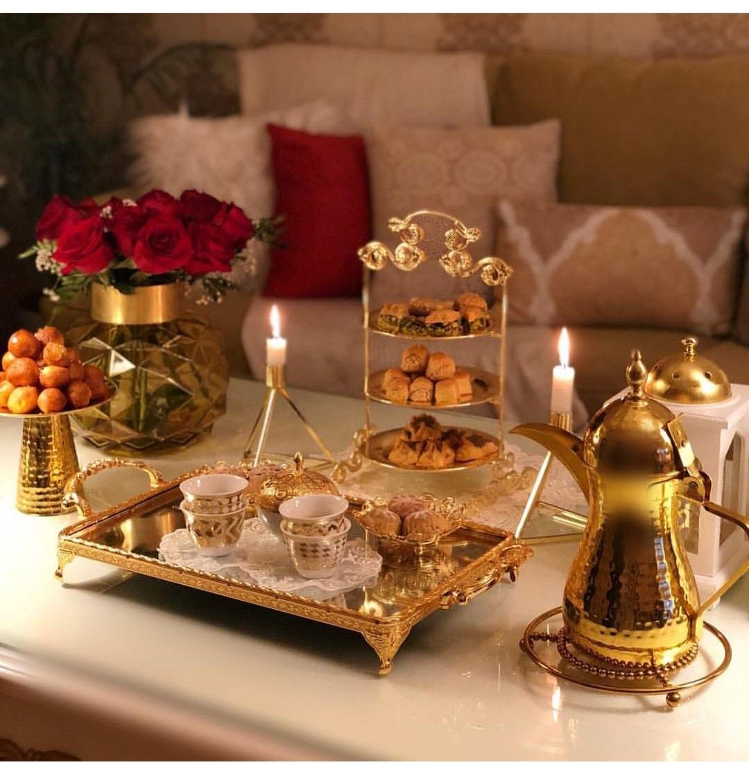 ترتيب طاوله القهوه Arabian Decor Ramadan Decorations Iftar Party