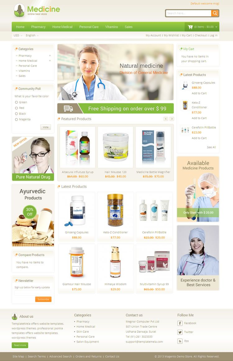 Medicine - Responsive Magento Theme | Live Preview and Download: http://themeforest.net/item/medicine-responsive-magento-theme/7637297?WT.ac=category_thumb&WT.z_author=TemplateMela&ref=ksioks