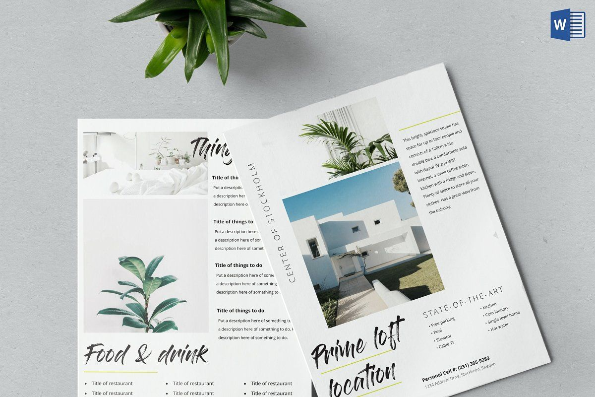Airbnb Welcome Kit Template Word Doc Book Template Templates Flyer Template