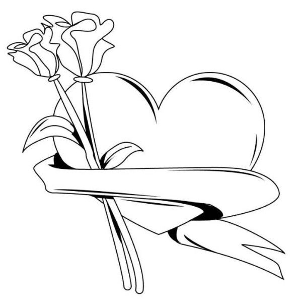 valentine-heart-with-roses-coloring-pages-600x609.jpg (600×609 ...