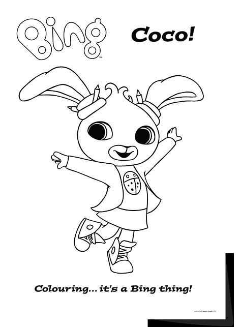 Bing Lineart Coco Bing Bunny Bunny Birthday Bing Cbeebies