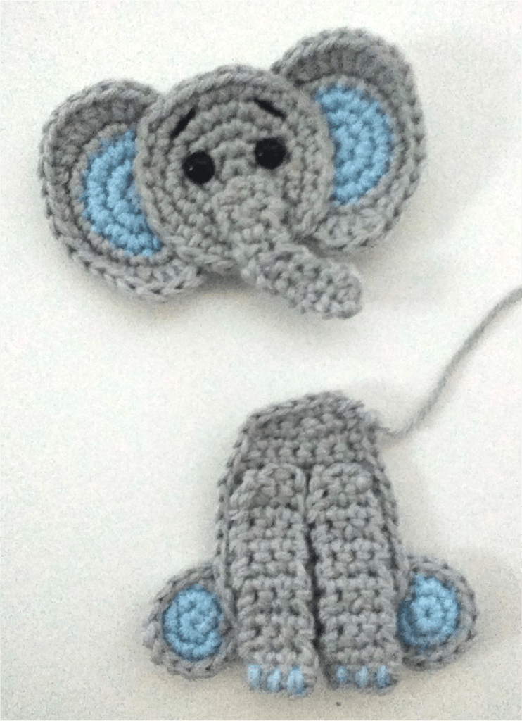 Free Crochet Pattern: Elephant Appliqué - Natalina Craft