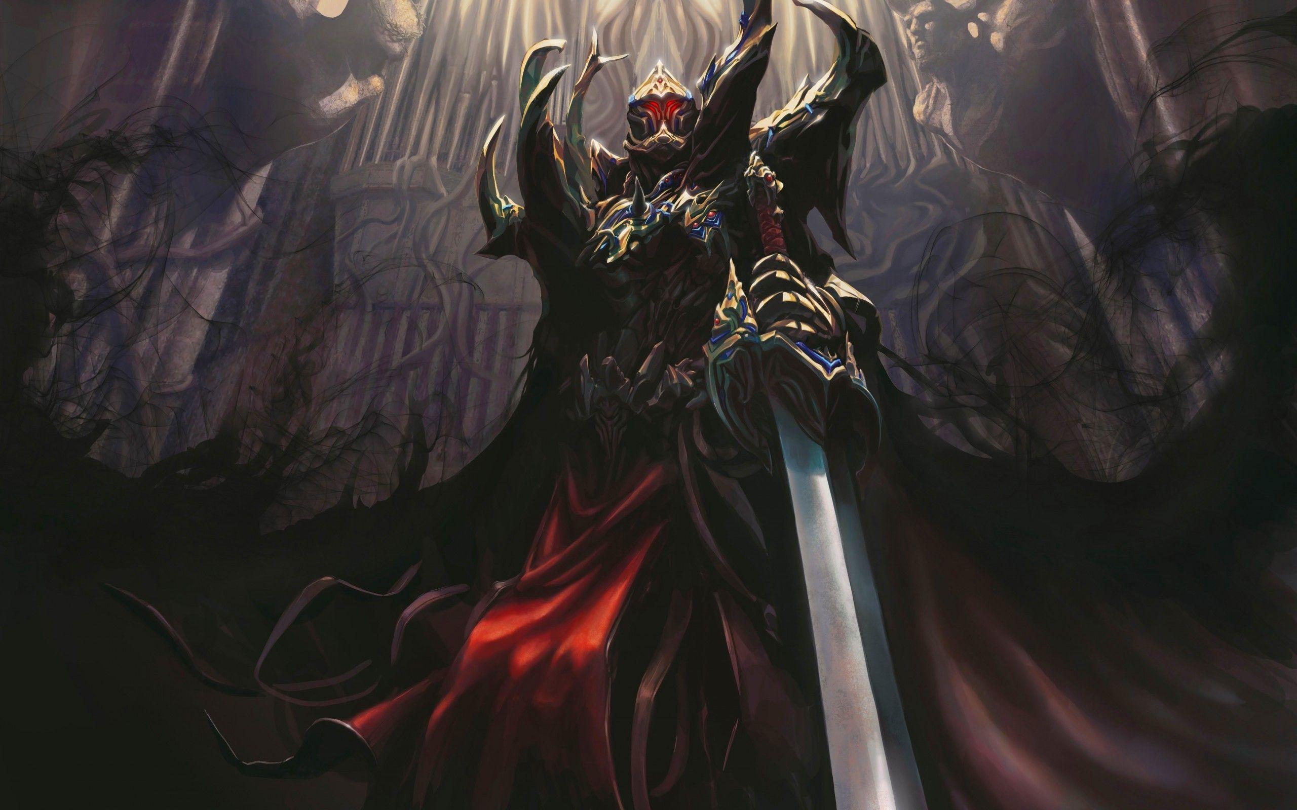Death Dark Knights Shadows Fantasy Art Armor Artwork TagNotAllowedTooSubjective Swords 2560x1600 Wallpaper