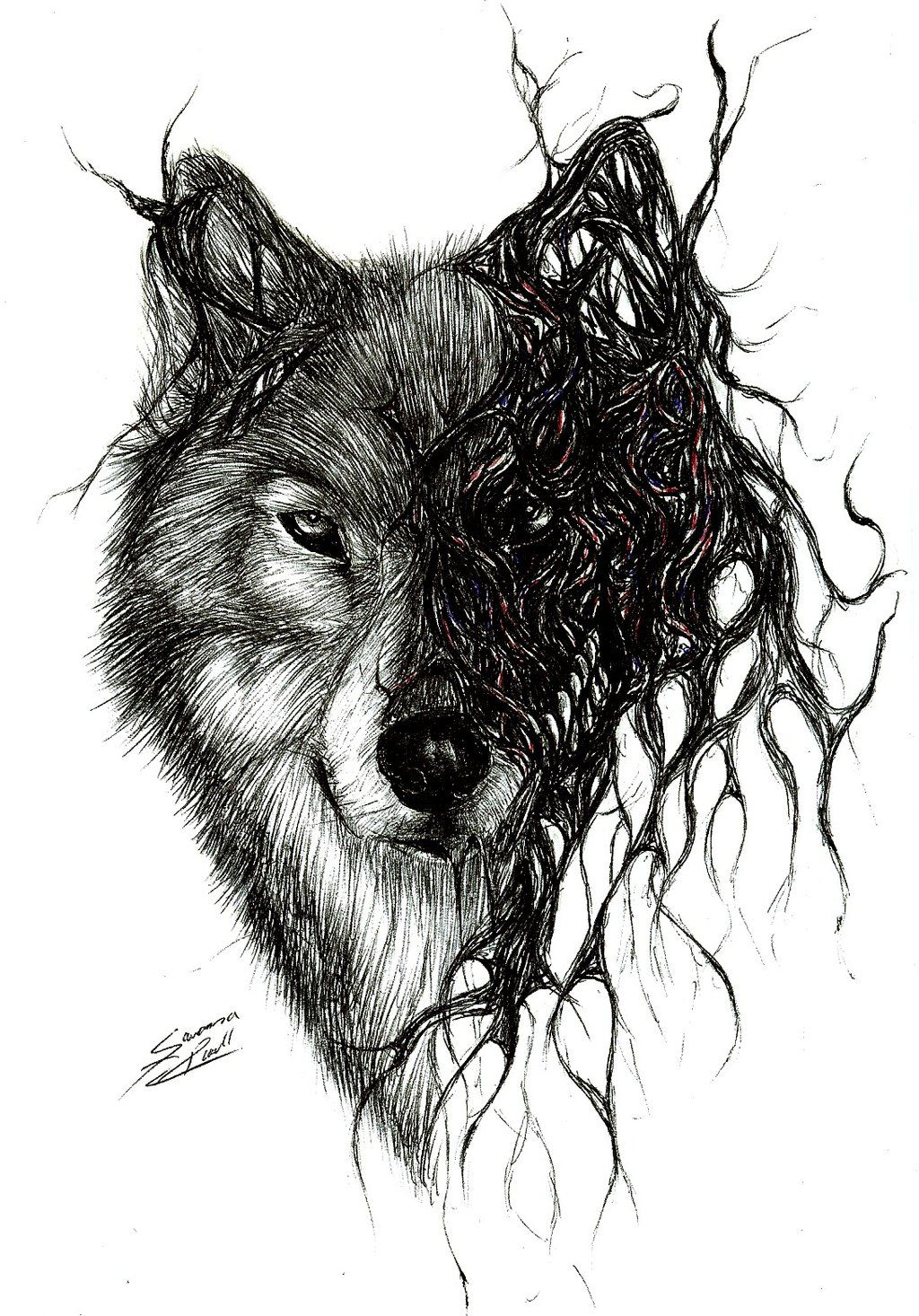 wolf by on deviantart tattoo ideas pinterest nature flower and. Black Bedroom Furniture Sets. Home Design Ideas