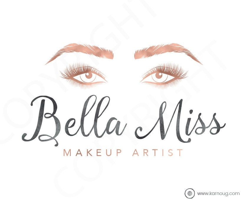 Makeup Artist Logo Makeup Logo Brow Artist Logo Eyes Premade Logo