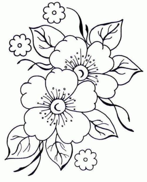 Dibujos De Ninos Dibujos De Flores Para Pintar En Tela