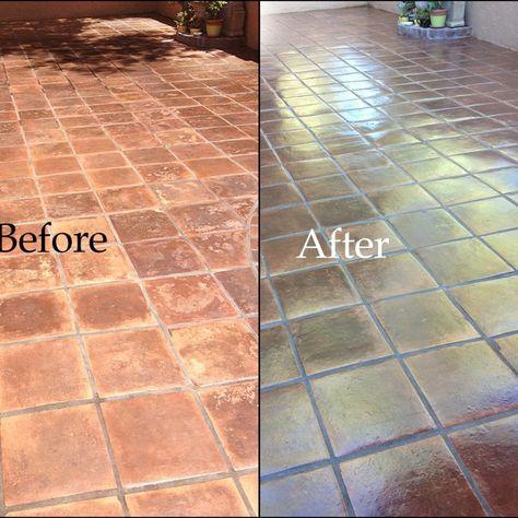 Staining Saltillo Tile Floor Mexican Updates Pinterest Tiles