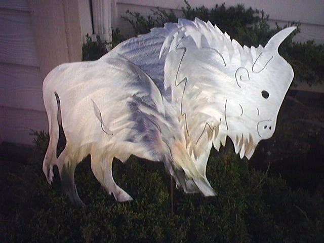 Buffalo+Bison+Metal+Lawn+Decor+Outdoor+Steel+by+steelknightdesigns,+$10.99