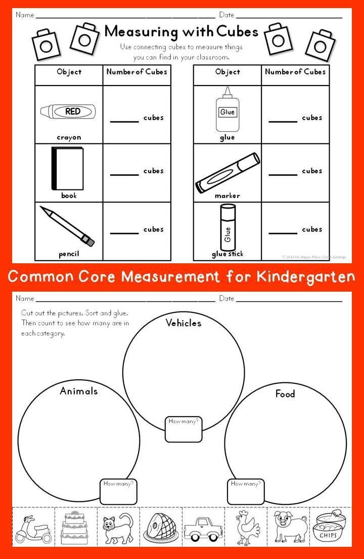 Measuring Measurement Kindergarten Kindergarten Math Kindergarten Worksheets Printable [ 1104 x 720 Pixel ]
