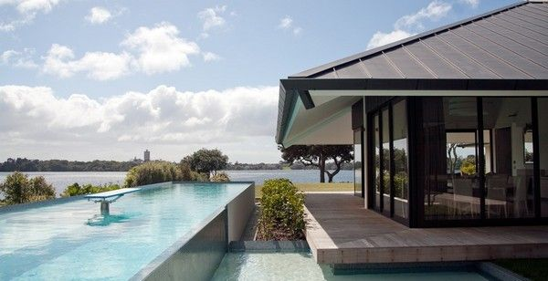 Modern Architecture New Zealand spectacular lake view residence in new zealanddaniel marshall
