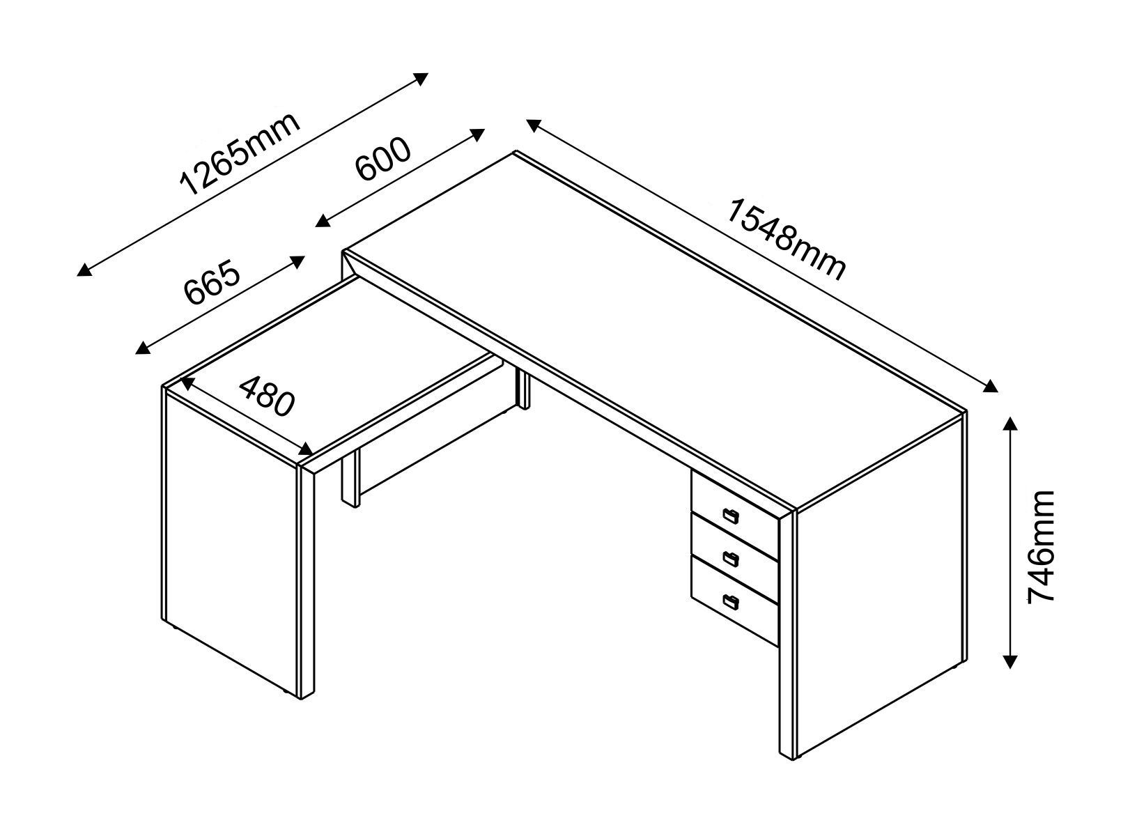 Mesa para escritorio pesquisa google medidas - Medidas mesa oficina ...