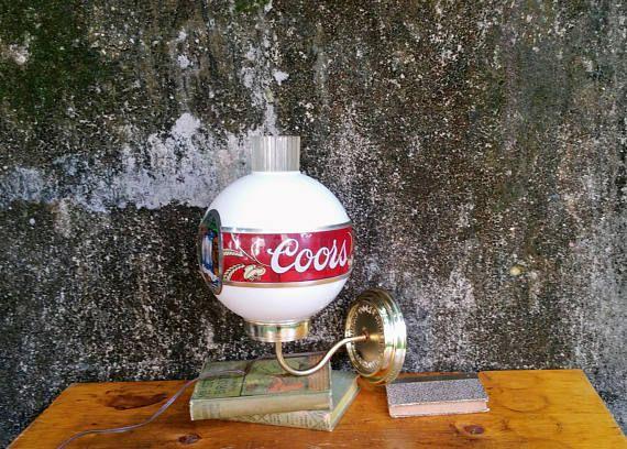 Vintage Coors Beer Wall Sconce Lamp Beer Wall Sconce Lamp Wall Sconces