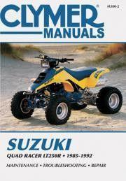 Clymer M380 2 Service Manual For 1985 92 Suzuki Lt250r Quad Racer With Images Clymer Suzuki Quad