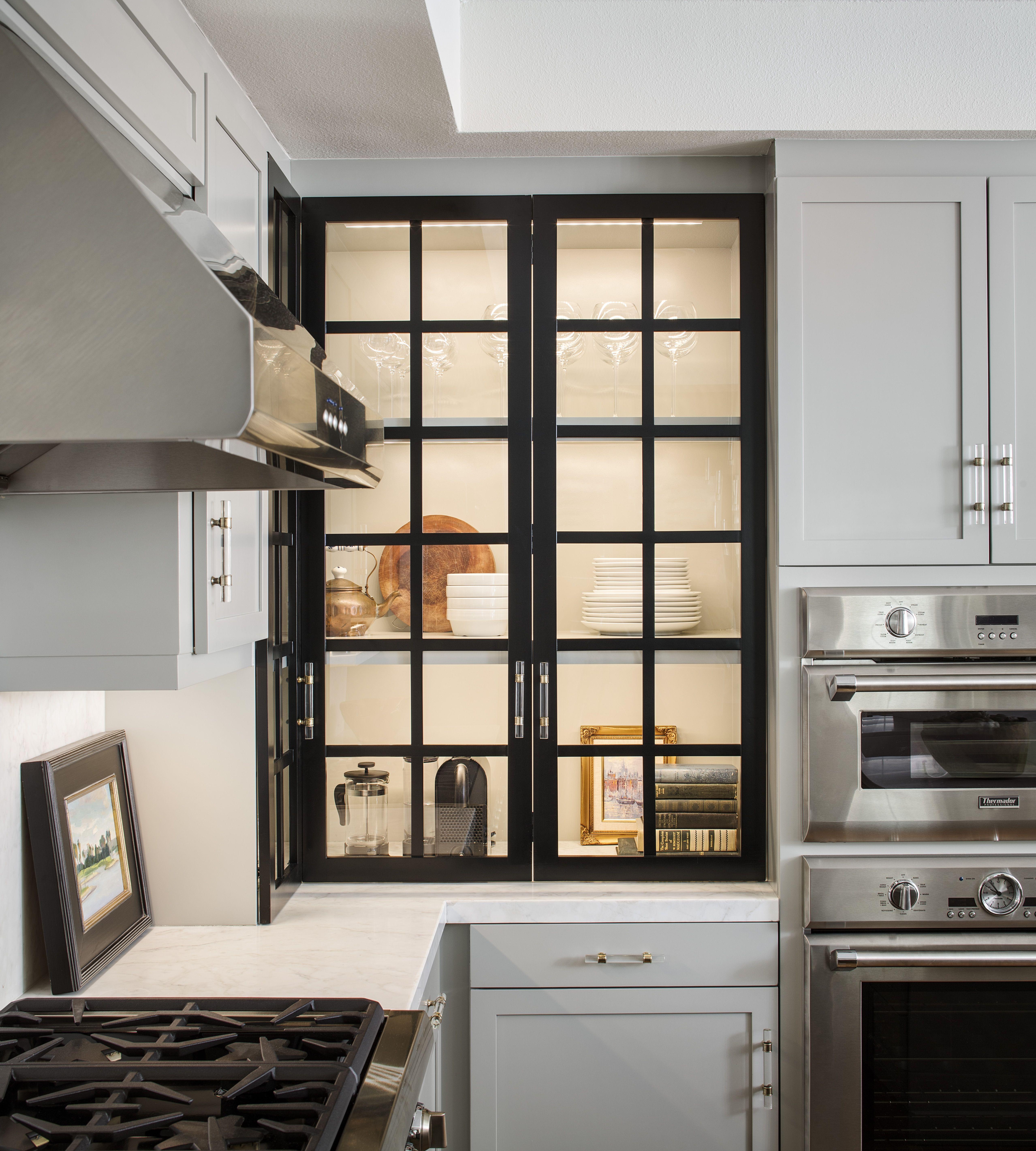 Photo Courtesy Of Chipper Hatter Glass Kitchen Cabinets New Kitchen Designs Kitchen Cabinets