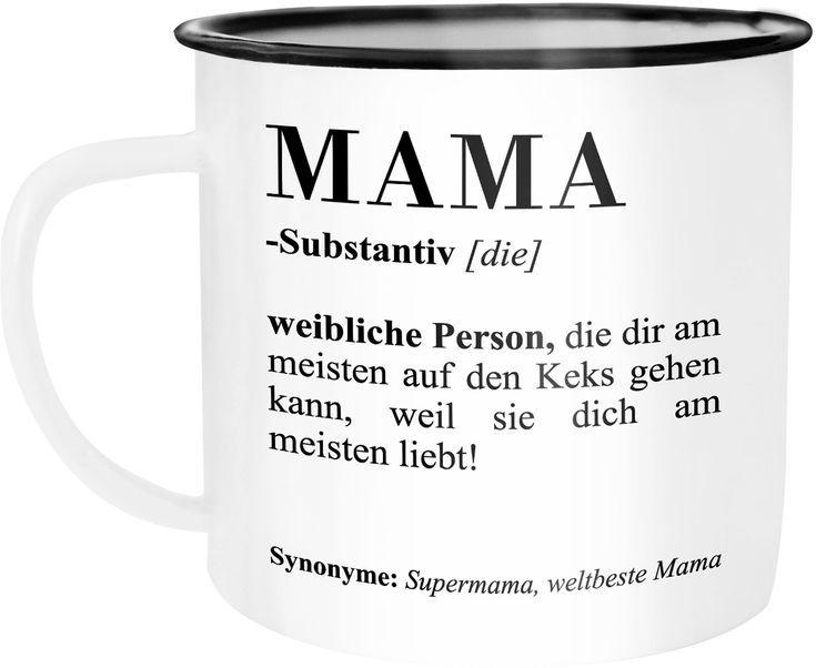 Weihnachten Duden.Emaille Tasse Becher Mama Definiation Wörterbuch Dictionary Duden