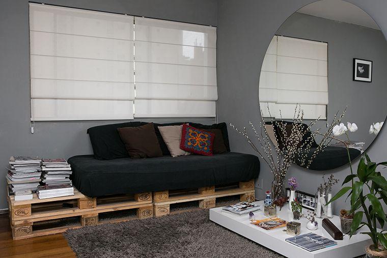 Sala de 25m² super cool e de baixo custo   Pallets and Interiors