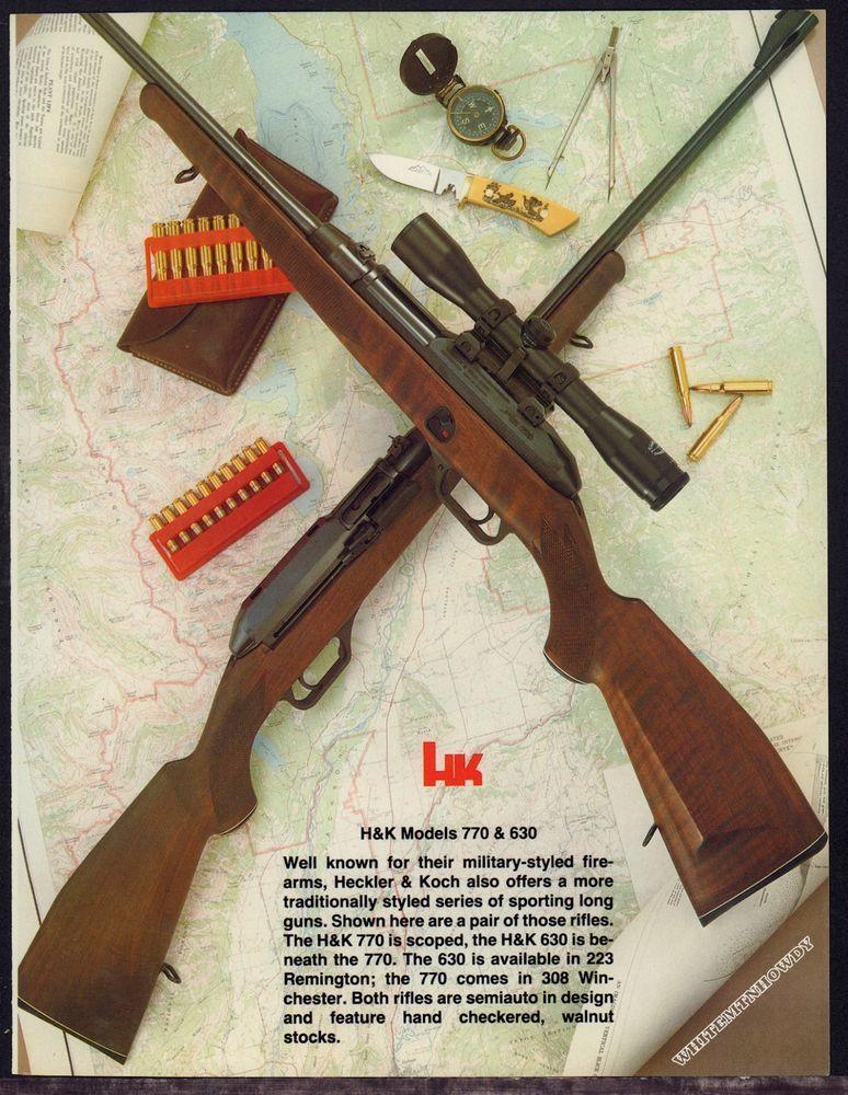 1983 HECKLER & KOCH H&K Model 770 & 630 Rifle Photo Page to Frame ...