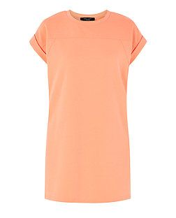 Robe tunique Petite orange en jersey | New Look
